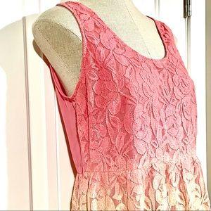 FLYING TOMATO Lace Ombre Midi Sleeveless Dress